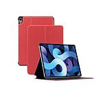 Mobilis Coque de Protection Folio pour iPad Air 4 10.9'' 2020, Smart Cover Étui Antichoc, Rouge