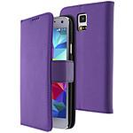 Avizar Etui folio Violet pour Samsung Galaxy S5 , Samsung Galaxy S5 New