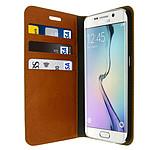 Avizar Etui folio Marron pour Samsung Galaxy S6 Edge