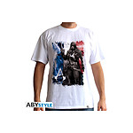ASSASSIN'S CREED - Tshirt AC5 - Drapeau homme MC white - basic - Taille L