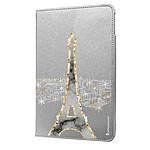 LA COQUE FRANCAISE Etui iPad Mini rigide argent Illumination de paris