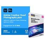Pack Adobe Creative Cloud Photo 20Go + Bitdefender  Total Security - Licence 1 an - 1 utilisateur - A télécharger