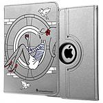 LA COQUE FRANCAISE Etui iPad Mini rigide argent Sur les Toits de Paris