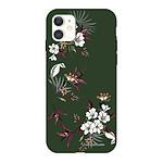 LA COQUE FRANCAISE Coque iPhone 11 Silicone Liquide Douce vert kaki Fleurs Sauvages