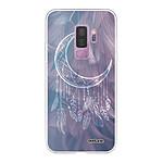 EVETANE Coque Samsung Galaxy S9 Plus souple transparente Lune Attrape Rêve