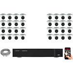 EC-VISION Kit vidéo surveillance IP 32 caméras dômes POE 5 MegaPixels