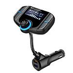 Avizar Transmetteur FM Noir pour Smartphones et tablettes compatibles Bluetooth