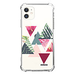 EVETANE Coque iPhone 11 anti-choc souple angles renforcés transparente Triangles Jungle