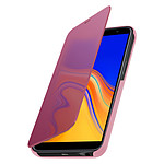 Avizar Etui folio Rose Design Miroir pour Samsung Galaxy J6 Plus