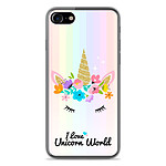 1001 Coques Coque silicone gel Apple IPhone 7 Plus motif Unicorn World