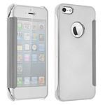 Avizar Etui folio Argent pour Apple iPhone 5 , Apple iPhone 5S , Apple iPhone SE