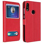 Avizar Etui folio Rouge pour Asus ZenFone Max Pro M2 ZB631KL