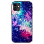 1001 Coques Coque silicone gel Apple iPhone 11 motif Galaxie Bleue