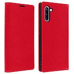 Avizar Etui folio Rouge Cuir Véritable pour Samsung Galaxy Note 10