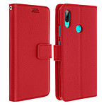Avizar Etui folio Rouge Porte-Carte pour Huawei P Smart 2019 , Honor 10 Lite
