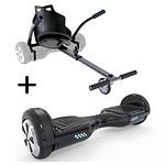 """UrbanGlide Hoverboard 6,5"""" +  Kart Noir"""