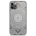 1001 Coques Coque silicone gel Apple iPhone 11 Pro motif Mandala blanc