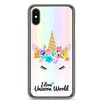 1001 Coques Coque silicone gel Apple iPhone X motif Unicorn World