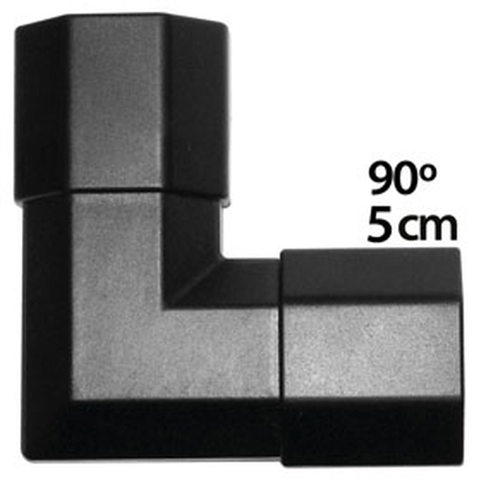 Angle pour goulotte cache-câble (5 cm) - (coloris noir)