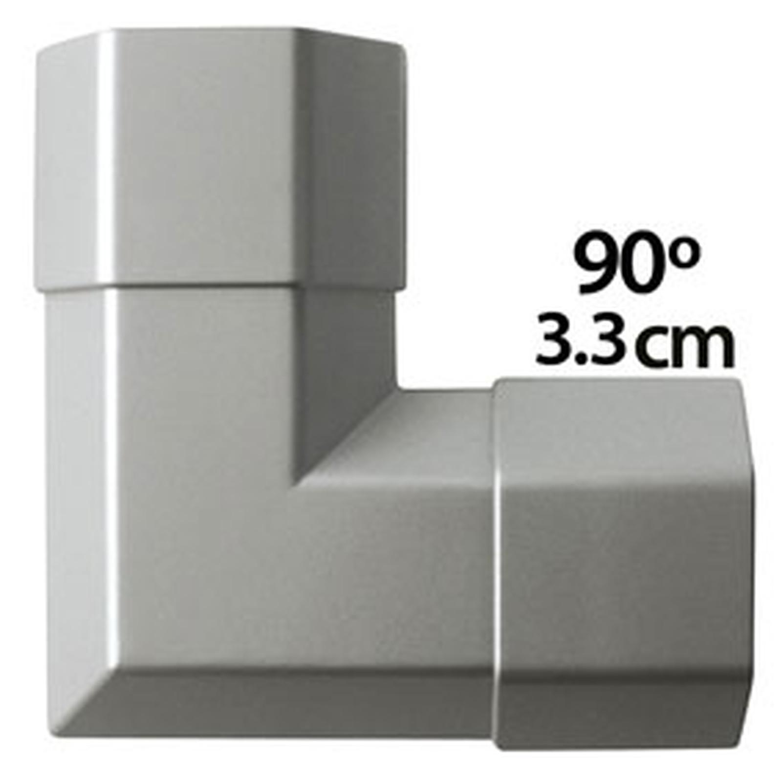 Angle Pour Goulotte Cache C 226 Ble 3 3 Cm Coloris Gris