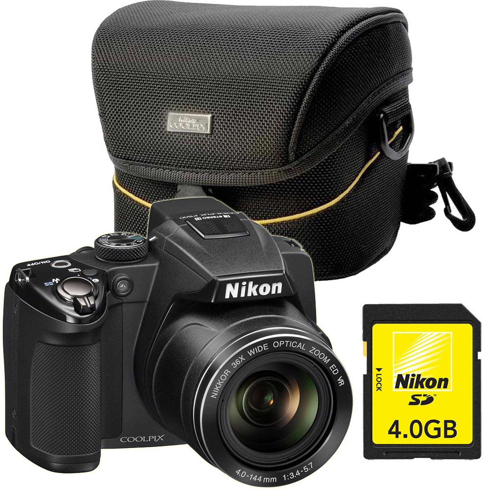 toujours populaire comment acheter taille 40 Nikon Coolpix P500 + Etui CS-P03 + Carte SD 4 Go - Appareil ...
