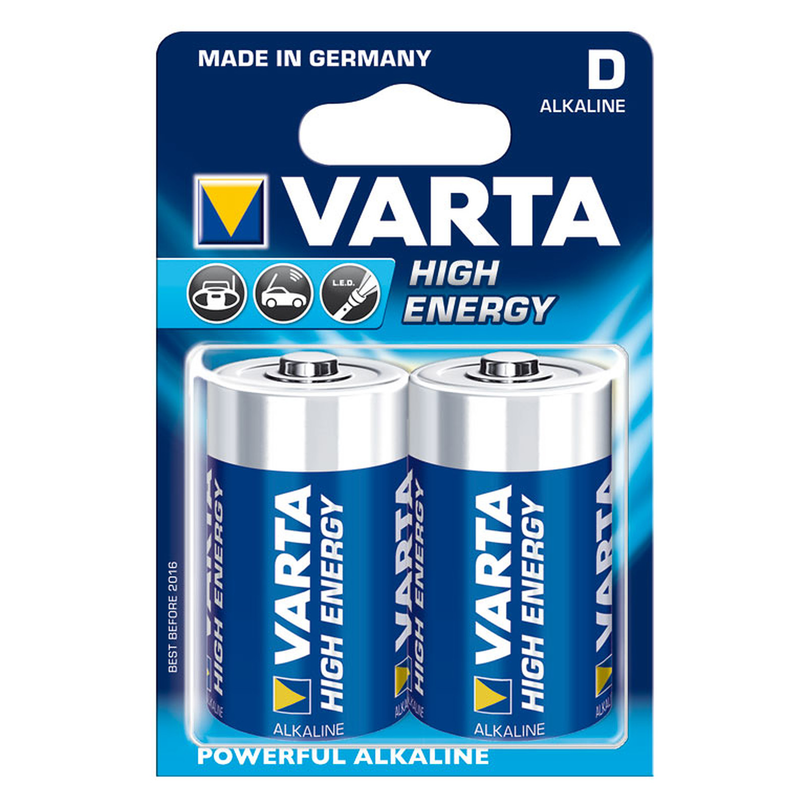 Varta High Energy LR20/D 2 piles