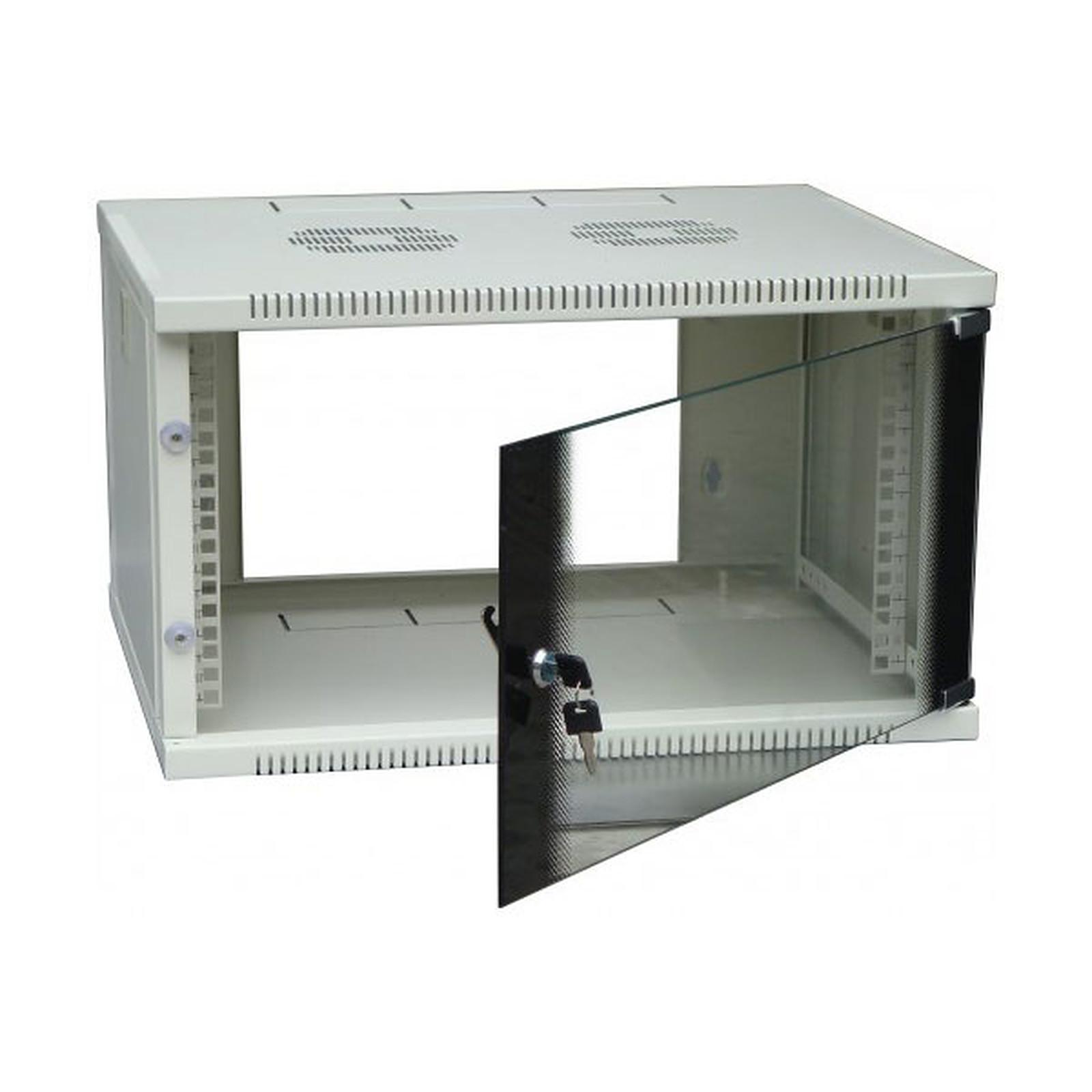 Dexlan coffret réseau - fixe - largeur 19'' - hauteur 12U - profondeur 45 cm - charge utile 35 kg - coloris gris