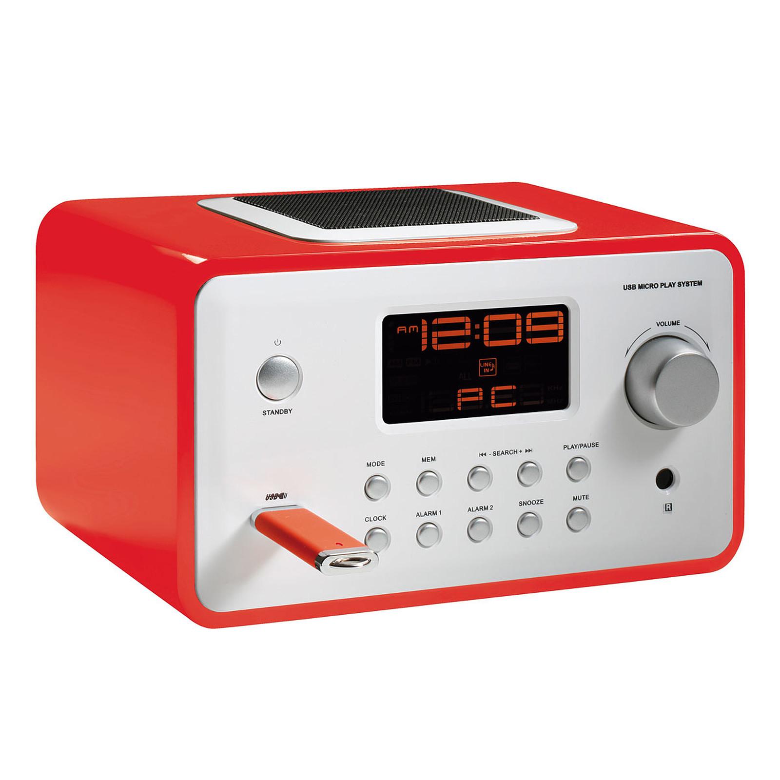 ClipSonic RA1040R Rouge Radio & radio réveil ClipSonic sur