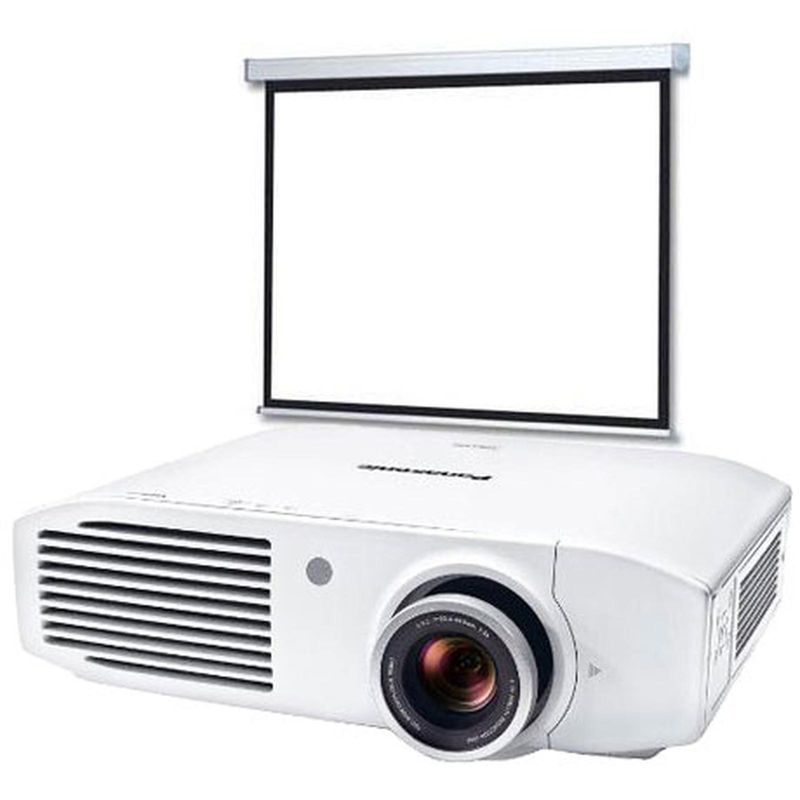 Panasonic PT-AH1000E + LDLC Ecran motorisé Format 16:9 - 240 x 135 cm