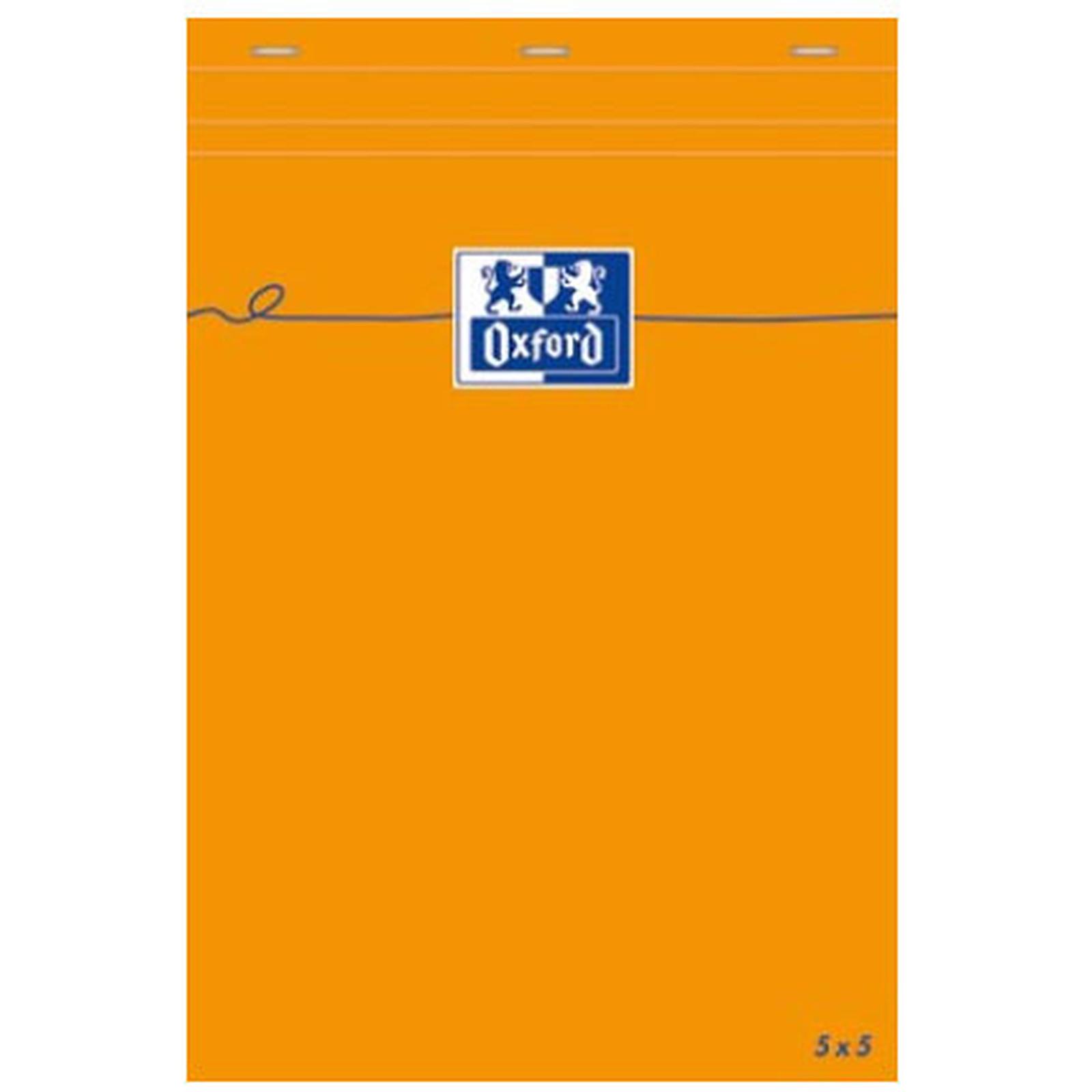 Oxford Bloc Bureau 14.8 x 21 quadrillé 5 x 5 80 pages