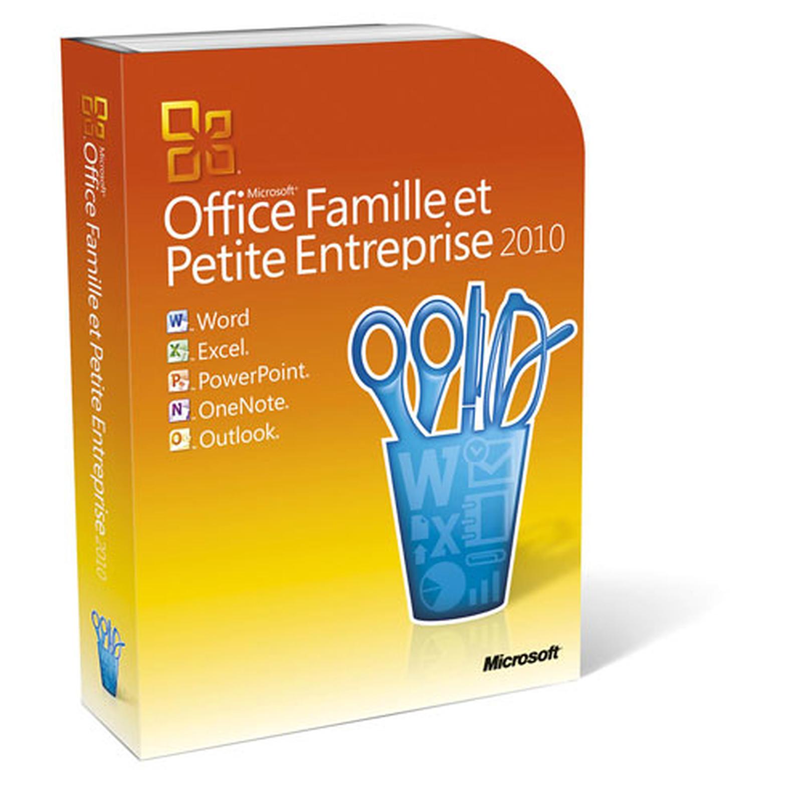 Microsoft Office Famille et Petite Entreprise 2010 - 2 PC / 1 utilisateur (DVD)