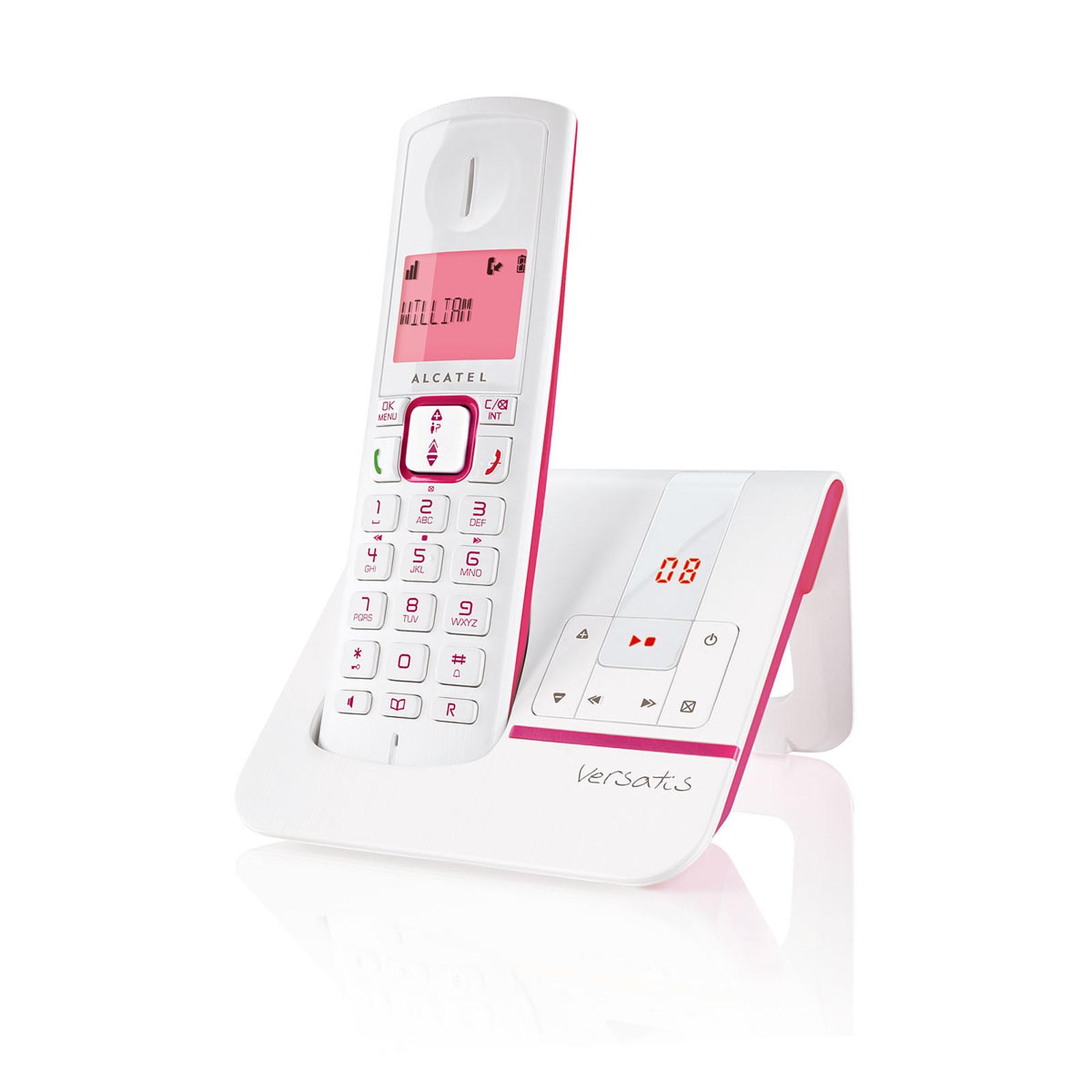 alcatel versatis f230 voice rose t l phone sans fil alcatel sur. Black Bedroom Furniture Sets. Home Design Ideas