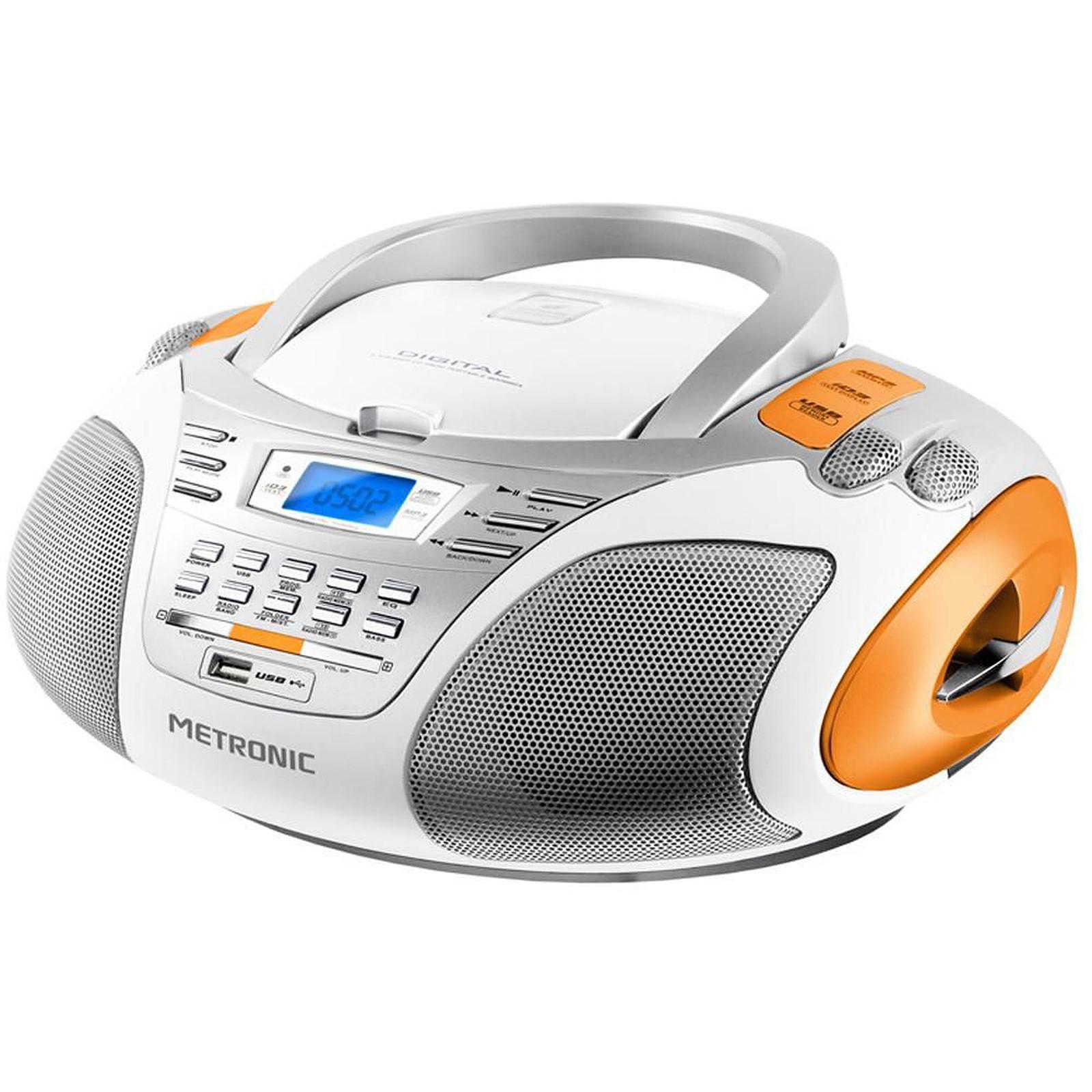 metronic radio cd mp3 sport white radio radio r veil metronic sur. Black Bedroom Furniture Sets. Home Design Ideas