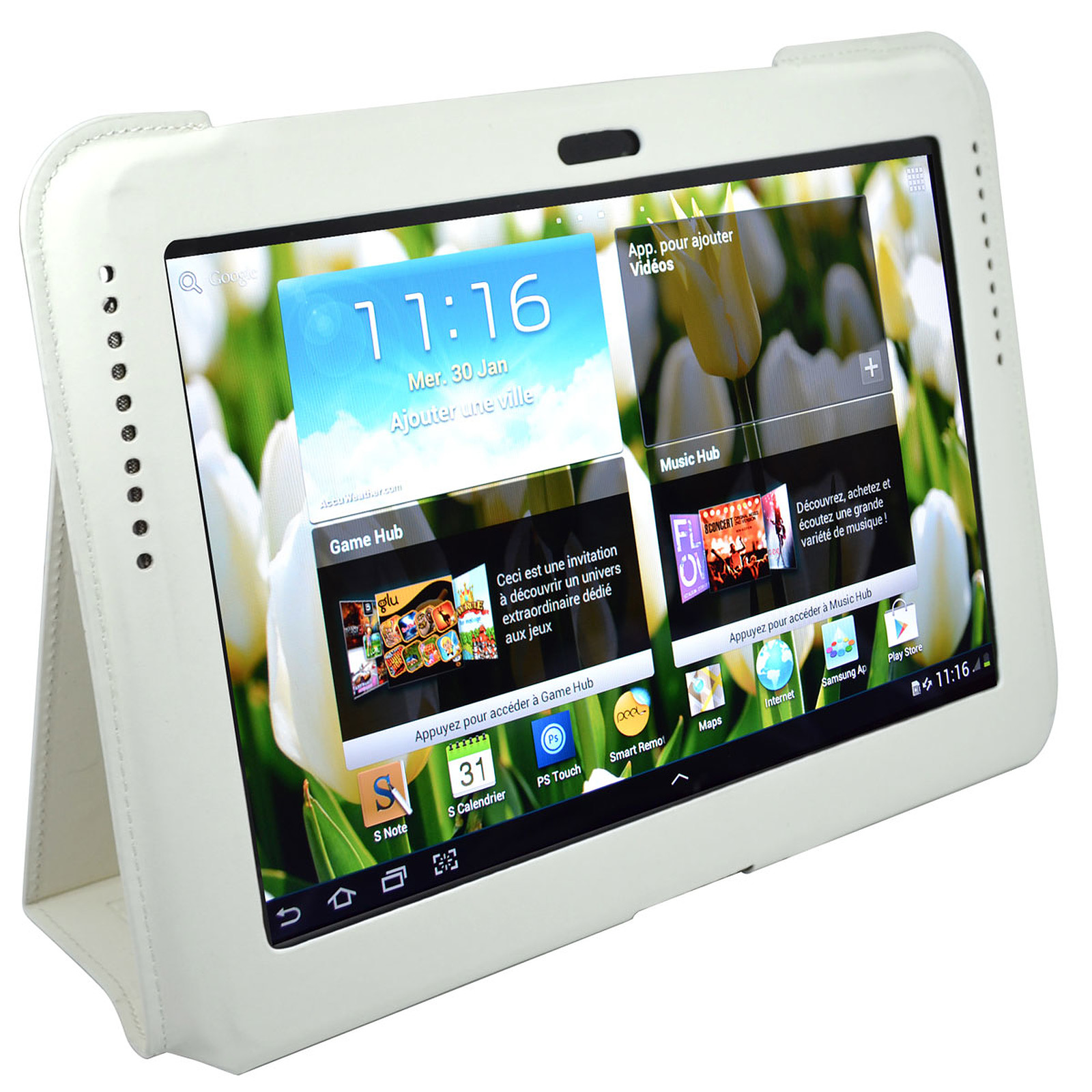 """Heden Protection Slim pour Samsung Galaxy Tab II 10.1"""" et Galaxy Note 10.1"""" Blanche"""