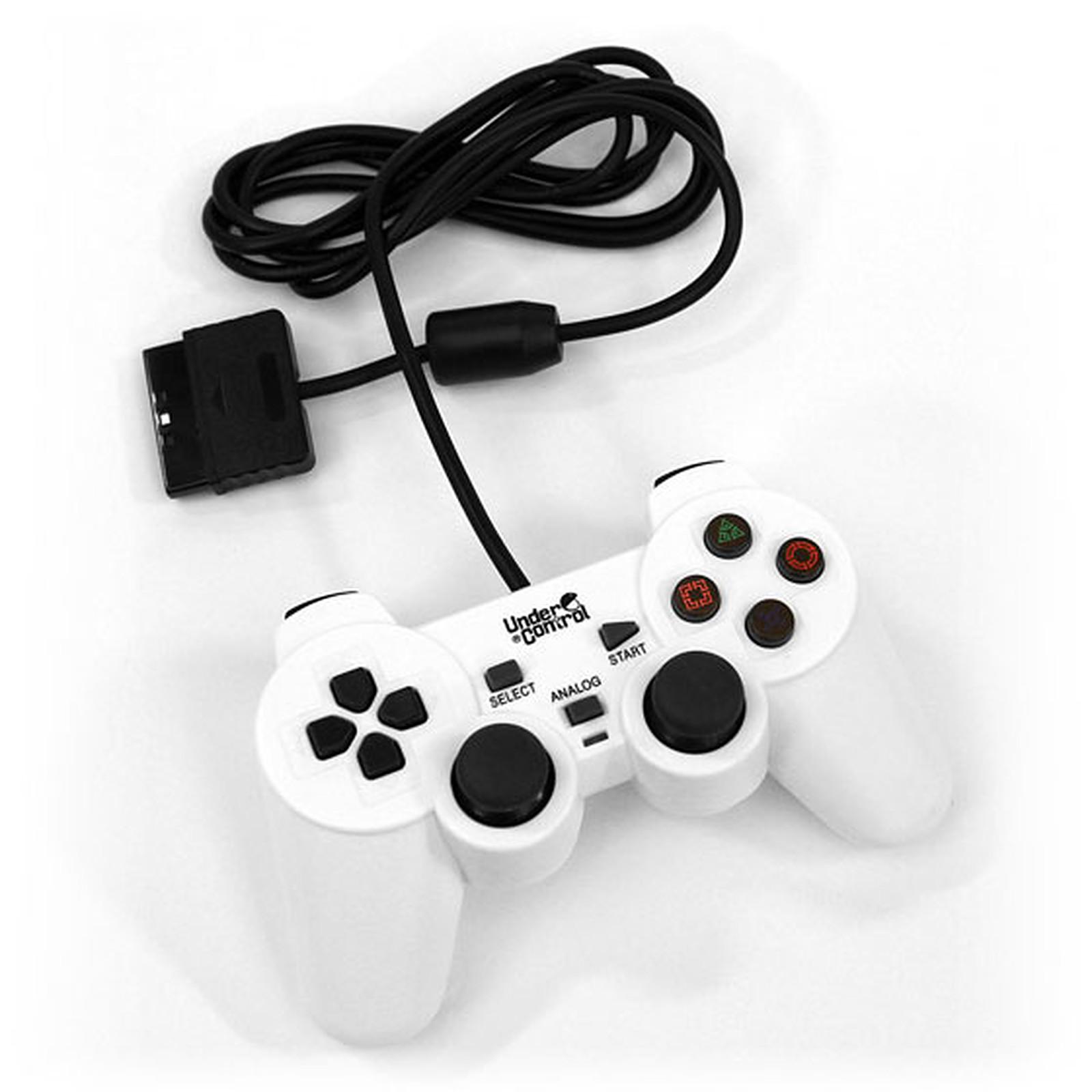 Under Control Shockcontroller Blanc (PS2)