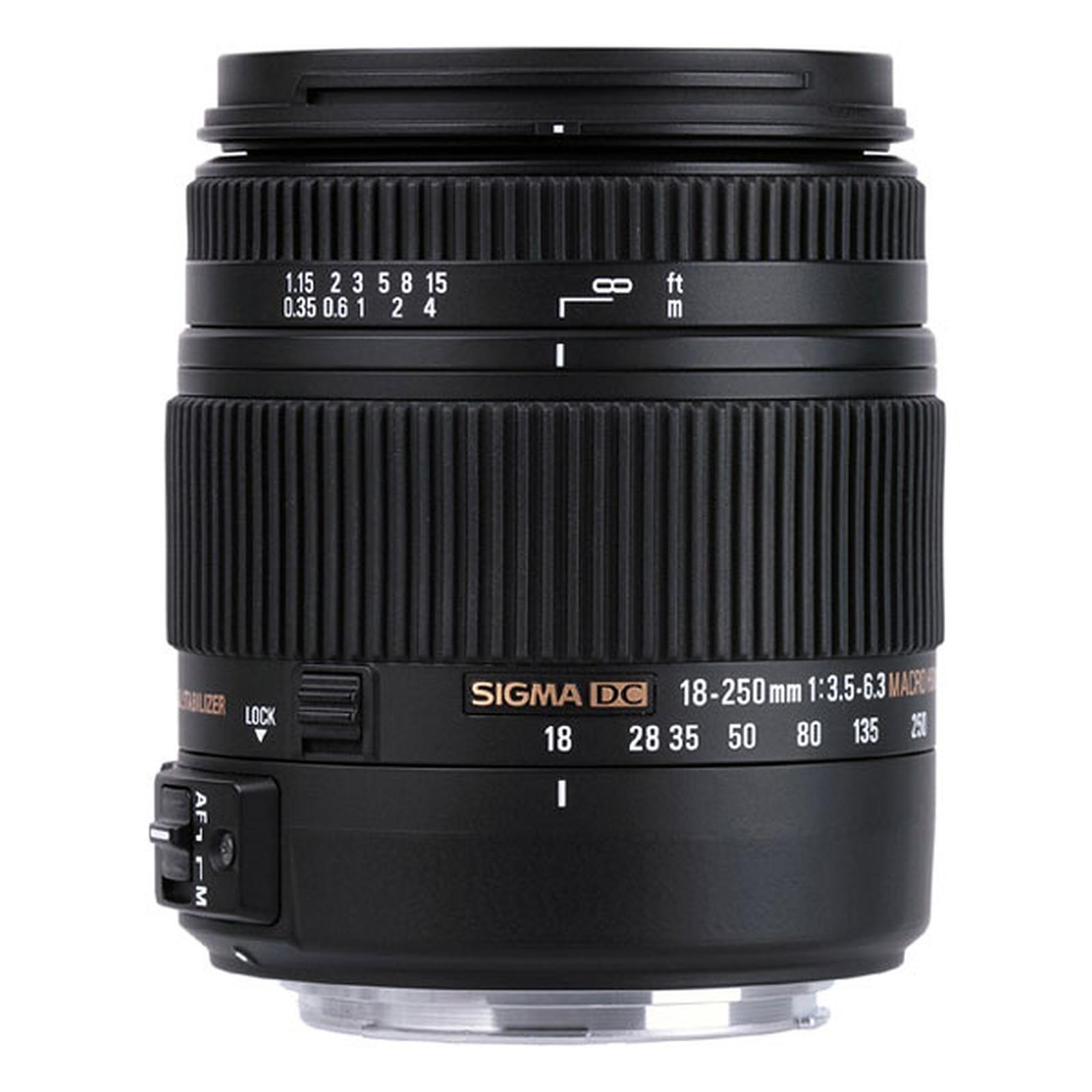Sigma 18-250mm F3,5-6,3 DC Macro OS HSM monture Canon
