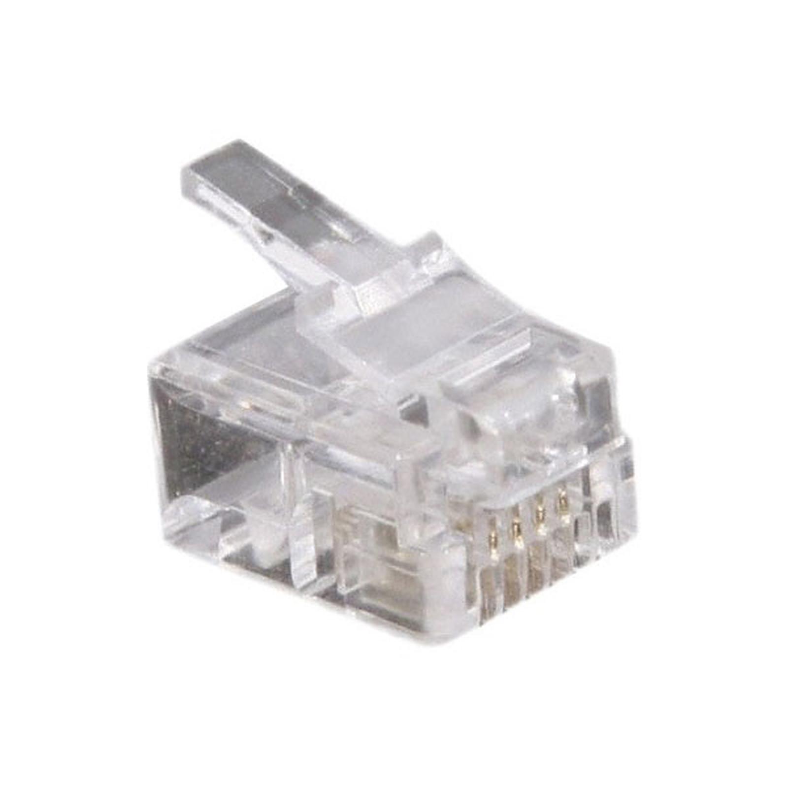 Conectores RJ11 (par 10)