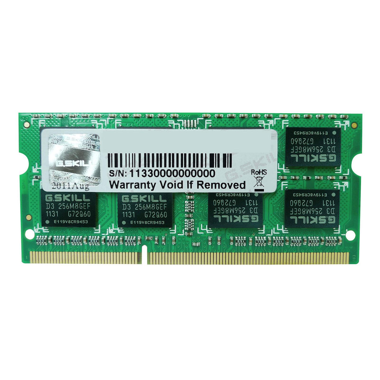 G.Skill SO-DIMM 8 Go DDR3 1333 MHz CL9