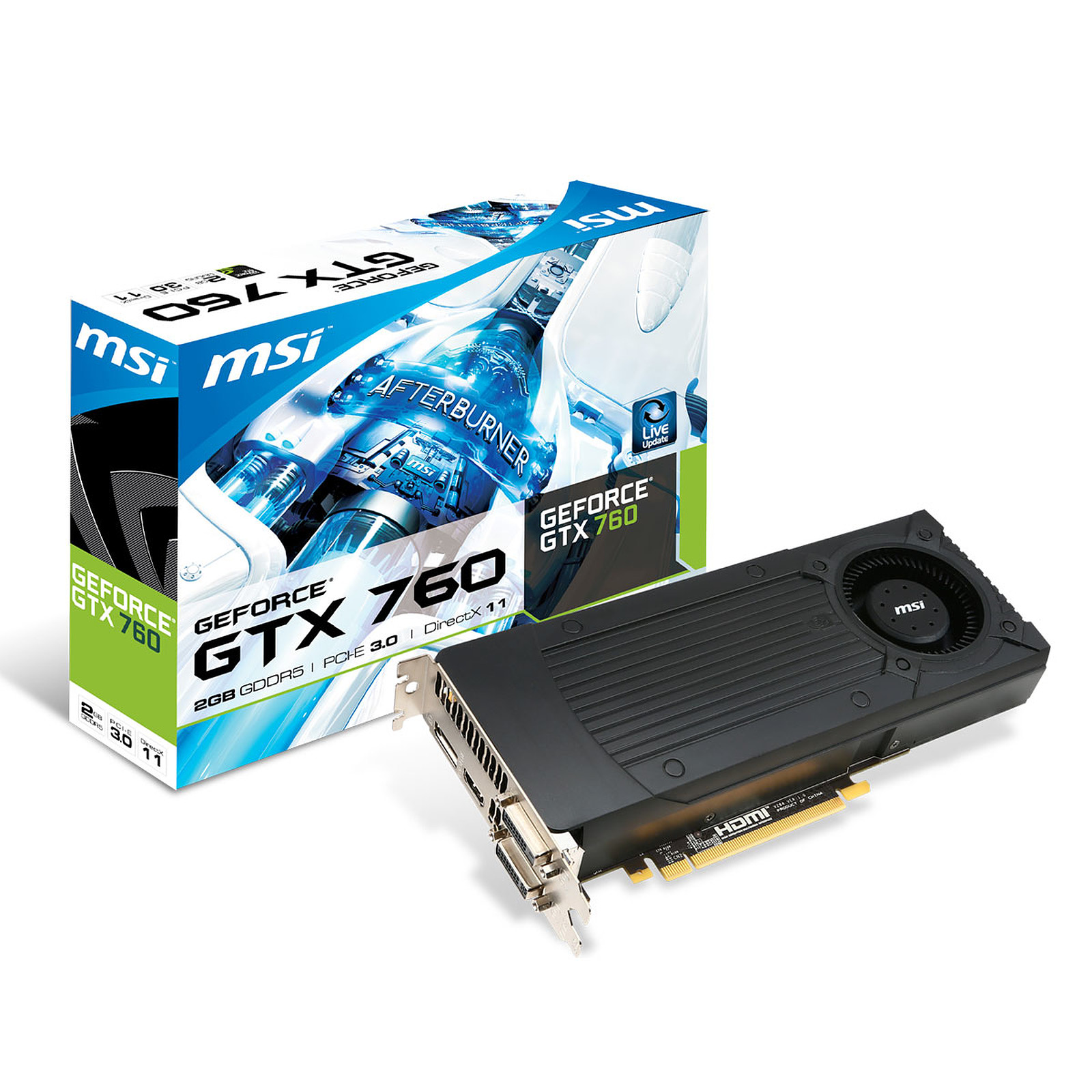 ASUS NVIDIA GeForce GTX 760 2 GB 256bit GTX760 2GB DVI HDMI Display Video Card