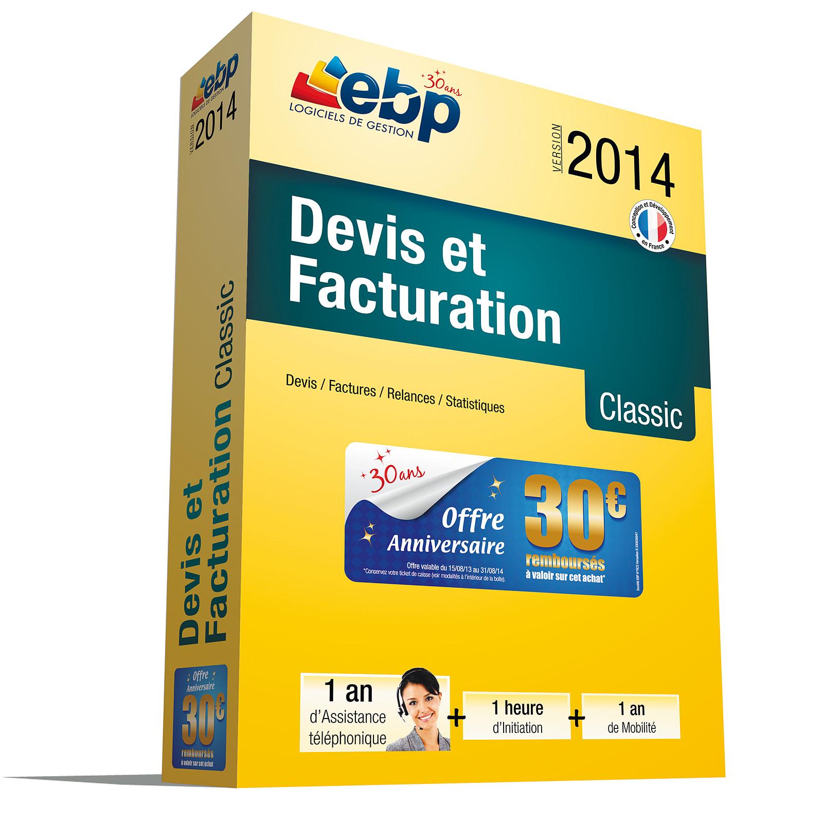 EBP Devis et Facturation Classic 2014 + Services VIP