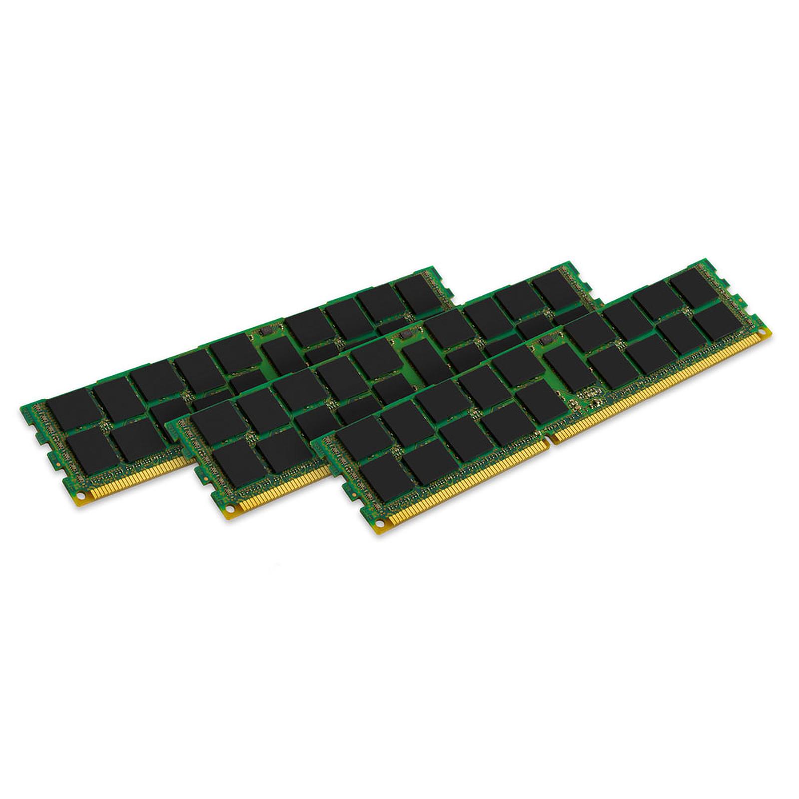 Kingston ValueRAM 12 Go (3 x 4 Go) DDR3 1600 MHz ECC Registered CL11 SR X8 (Intel)