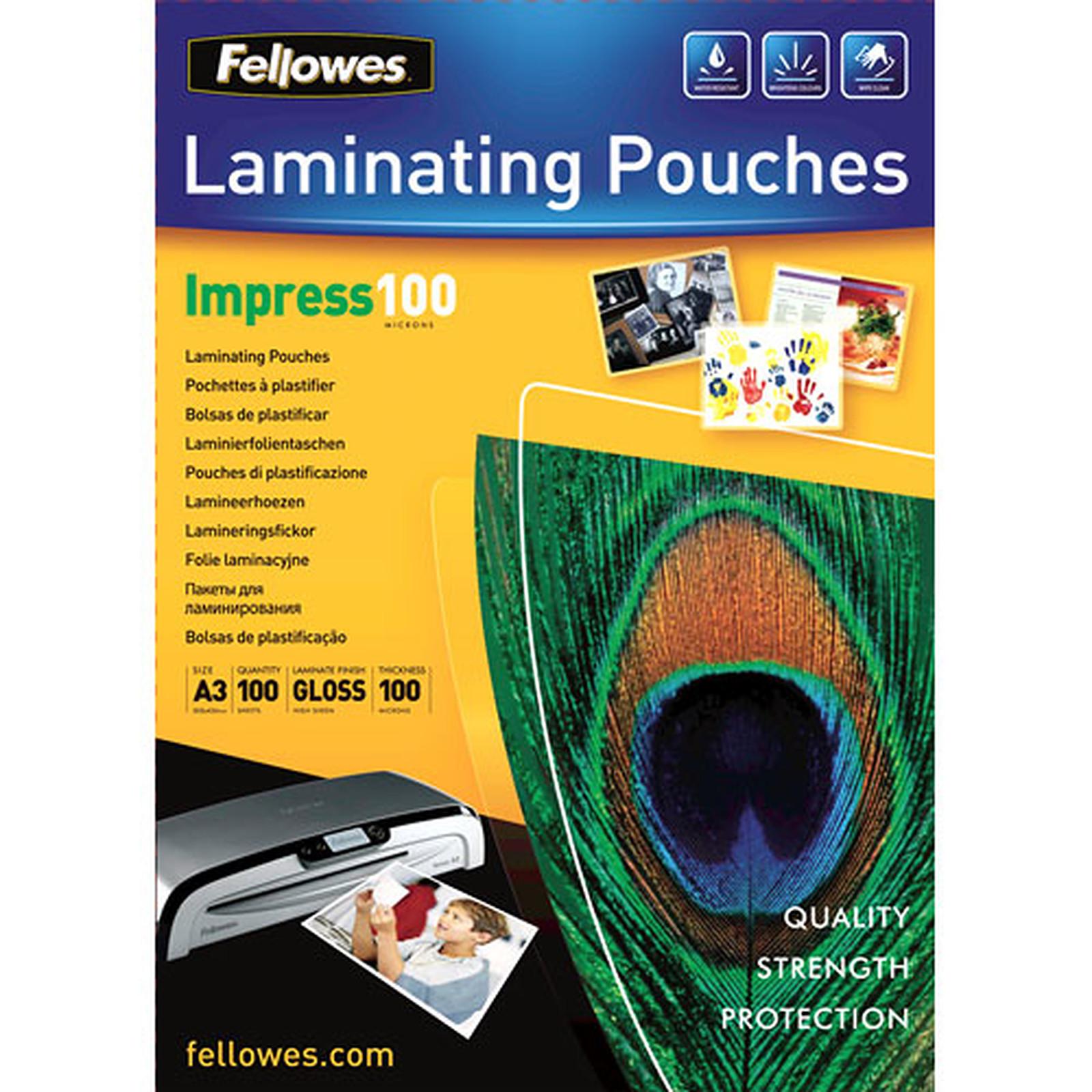 Fellowes Pochettes brillantes A3 100µ x 100