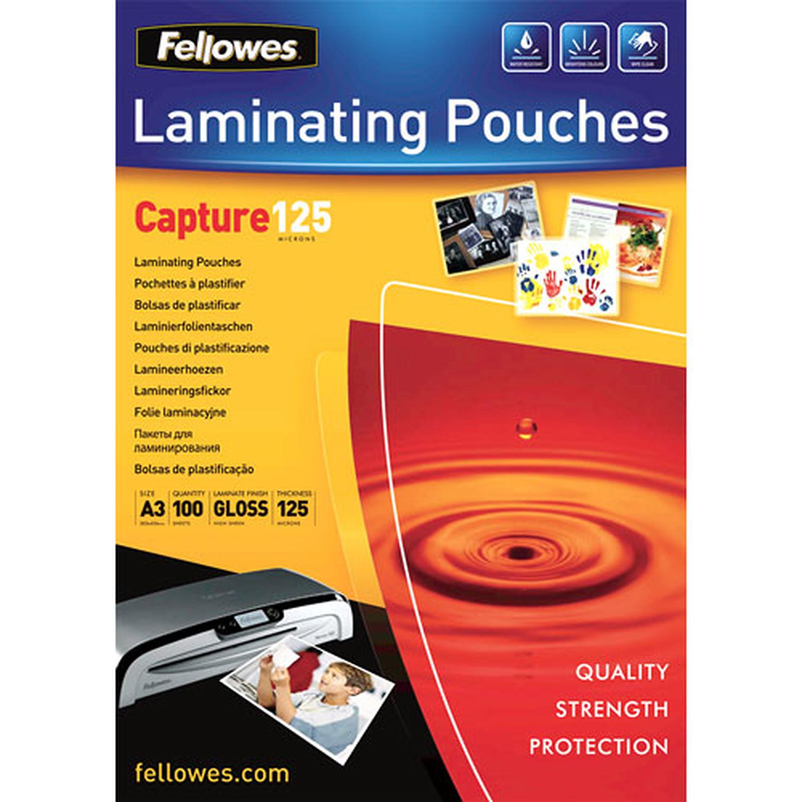 Fellowes Pochettes brillantes A3 125µ x 100