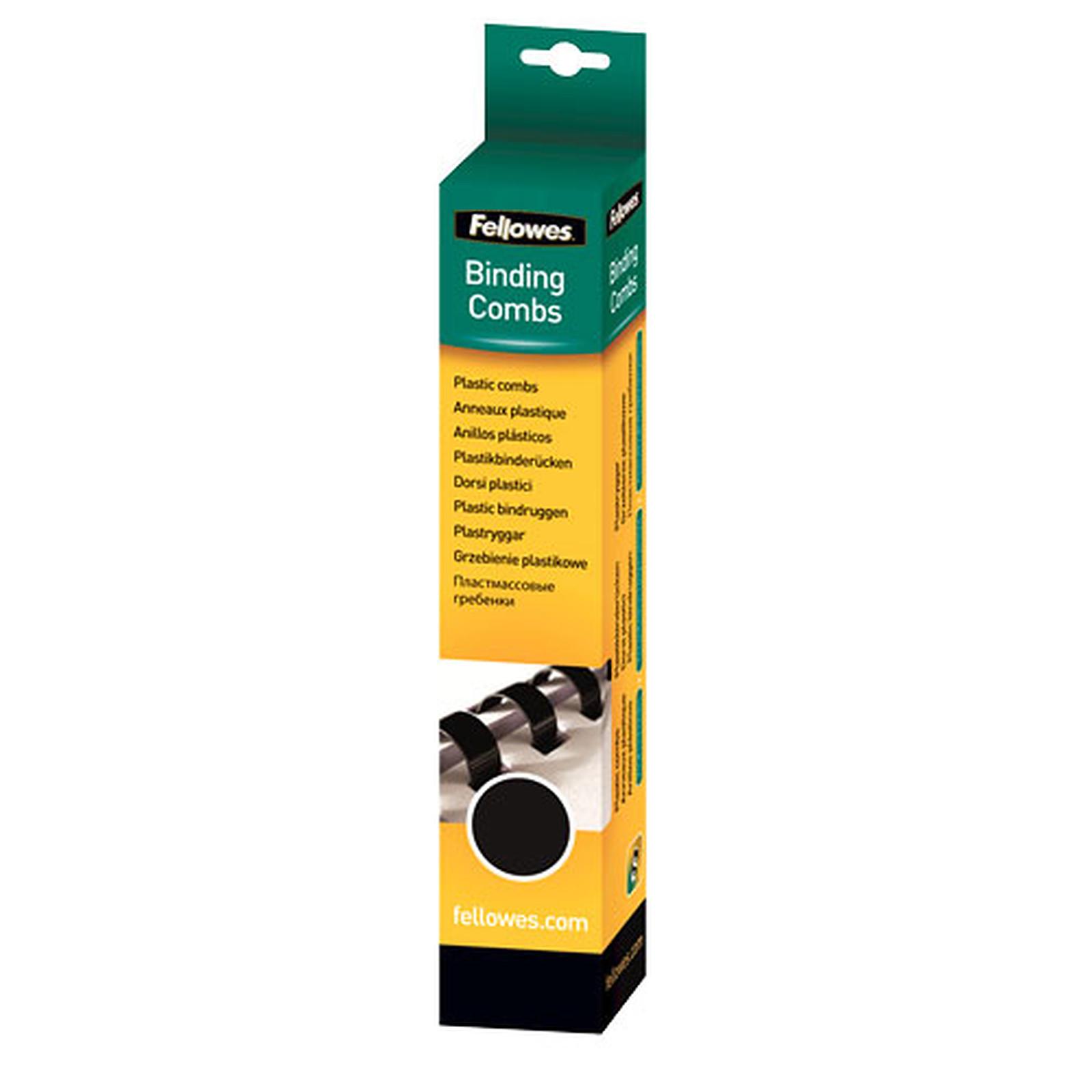 Fellowes Anneaux de reliure 8 mm Noir x 25