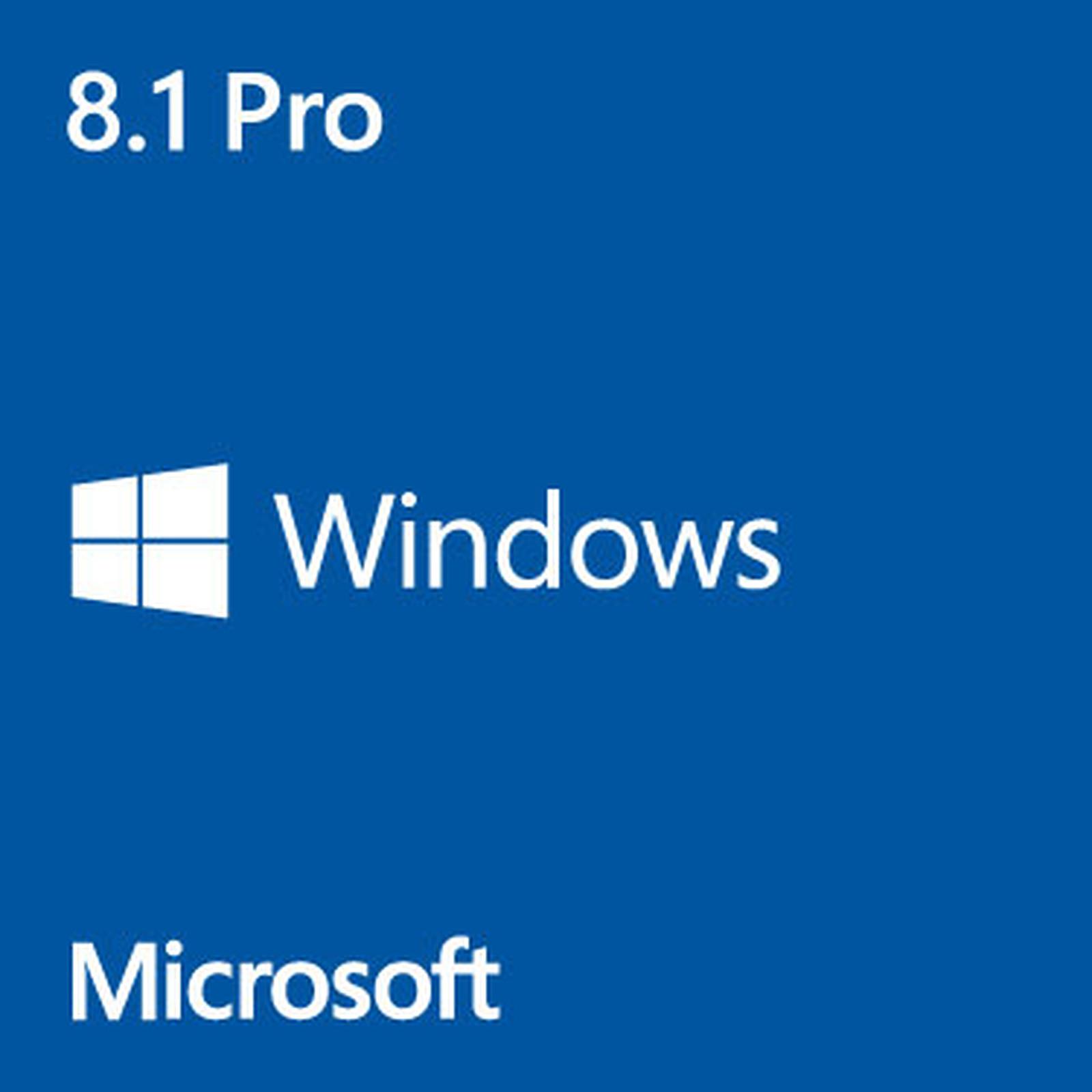 Microsoft Windows 8.1 Professionnel 64 bits - OEM (DVD)