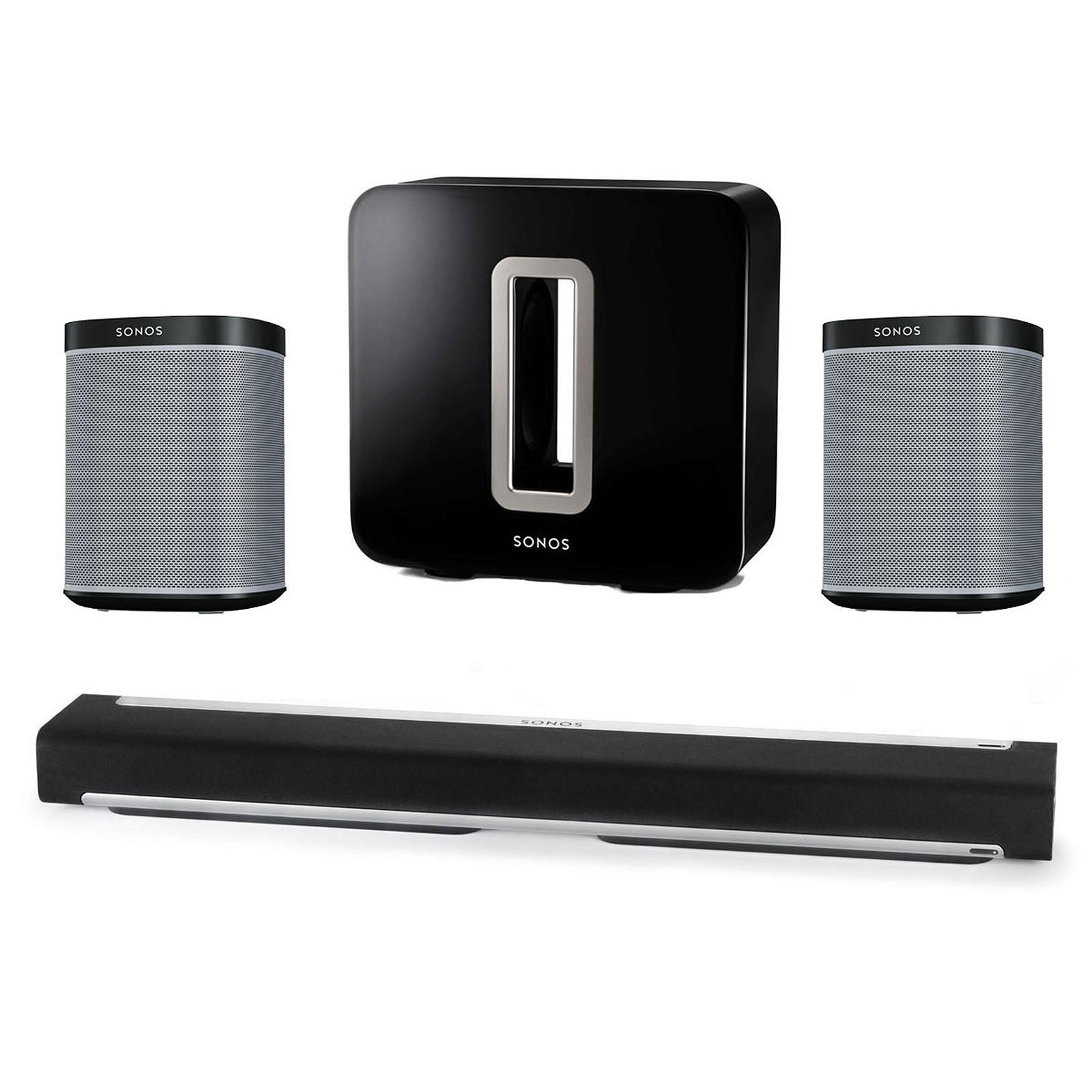 Sonos Playbar + Sonos SUB + 2 Sonos Play:1 Noir
