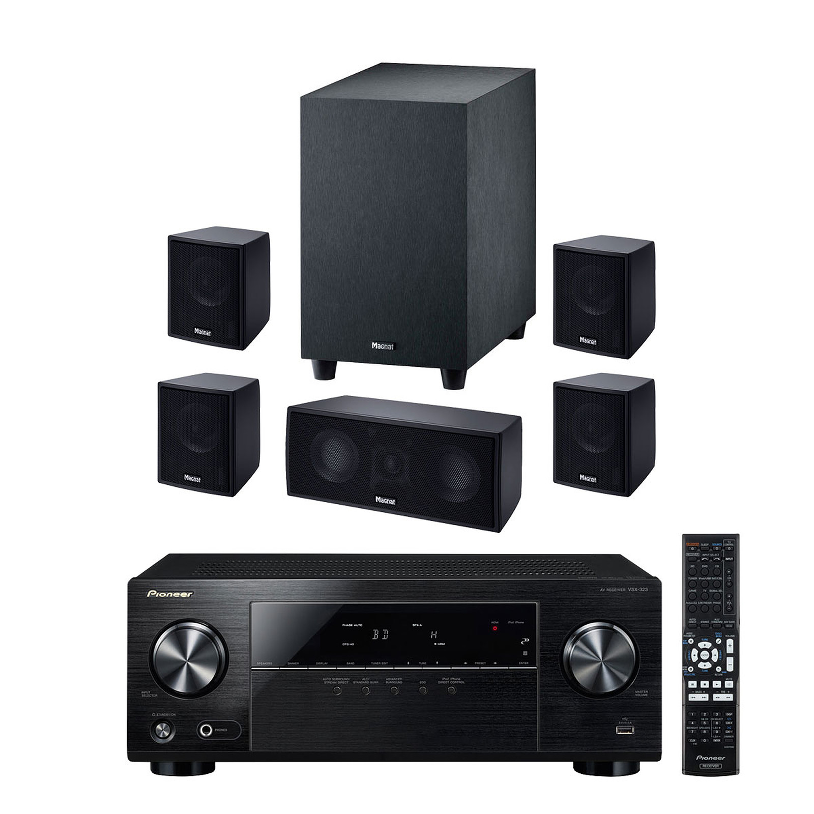 Pioneer VSX-323-K + Magnat Interior 5 1X - Ensemble home
