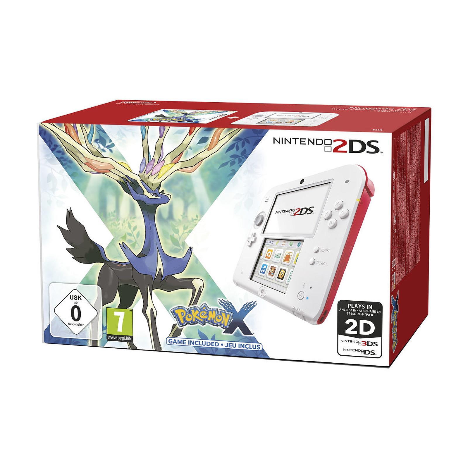 Nintendo 2DS Blanc / Rouge + Pokemon X