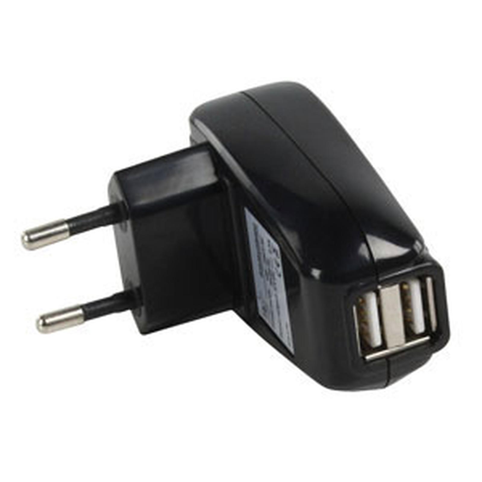 Chargeur double USB (2 A) sur prise secteur