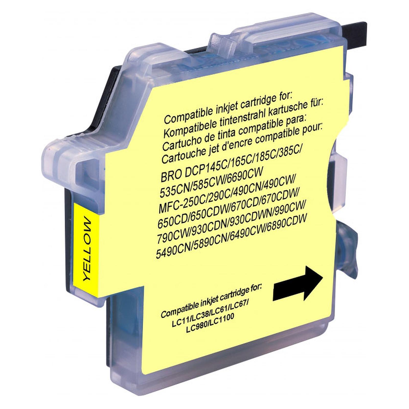 Cartucho compatible LC-980 y LC-1100 (amarillo)